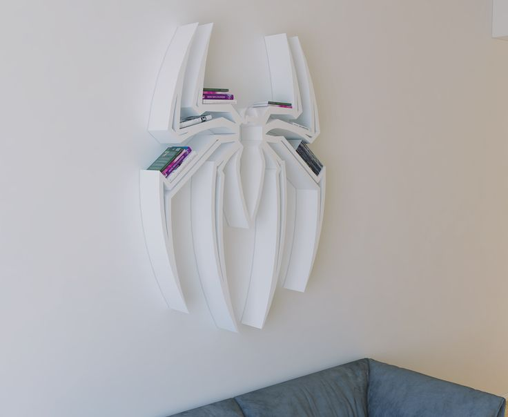Spider-Man logo, shelf, interrior, design, bookshelf