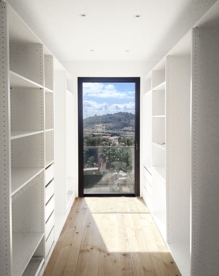Master closet looking through the landscape | A House by 08023 Architects in Barcelona | #Houses
