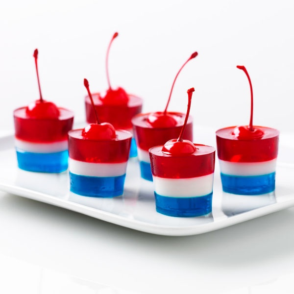 What's red, white and blue and jiggles all over? These fun JELL-O Firecrackers!