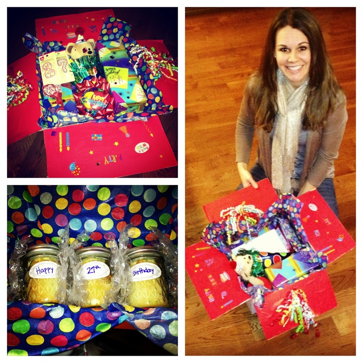 """""""Birthday in a Box"""" Care Package Idea"""