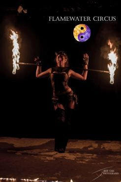Bella Fuego of Flamewater Circus looking sexy with her Dragon Staff. See Bella in our latest season of the Flamewater Show; Steampunk'd! http://flamewatercircus.com.au/steampunkd-season-trailer/ #flamewatercircus #circus #sydneyfiretwirlers #firetwirling #firespinning #firetwirlers #firespinners #firedancing #firedancers #fireperformers #firecircus #flamewatershow #steampunk #dragonstaff #BellaFuego