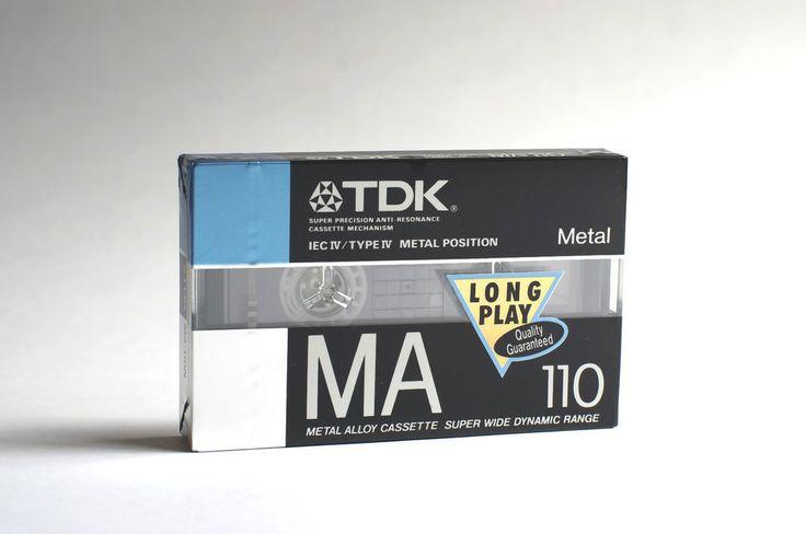 Cassette TDK MA 110 / Cinta Casette Cassete Casete Metal Blank audio tape K7