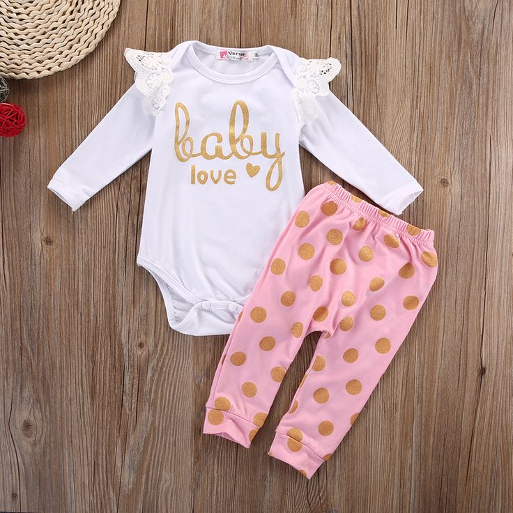 P.S. I Love You More Boutique | Baby Love Bodysuit and Pants Set | -- Spring Summer Fall Winter Fashion. www.psiloveyoumoreboutique.com