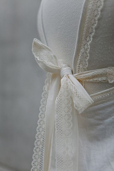 ~ To Have and To Hold ~ detail of back with vintage lace bits.