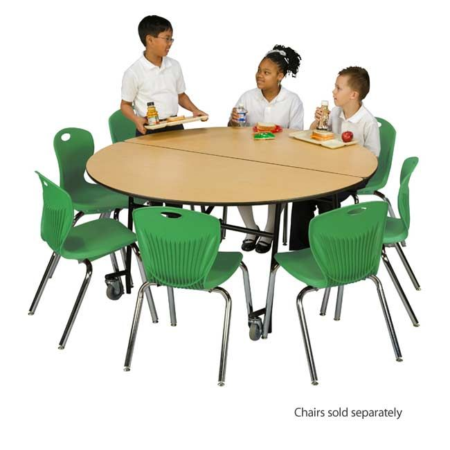 Use A Round Mobile Folding Table With Individual Stack Chairs To Simulate A  Home Style · Lunch RoomFolding TablesEnvironment