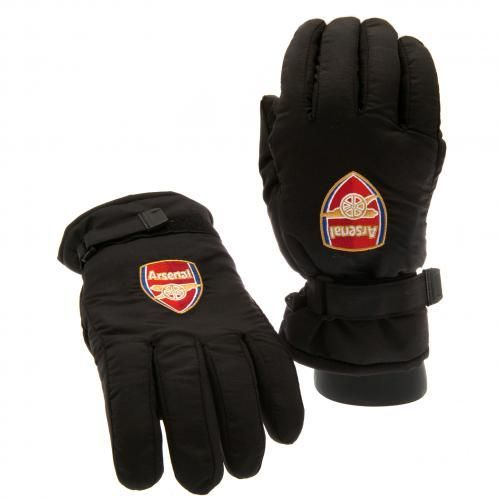 Adult's Arsenal ski gloves, black in colour and featuring the club crest on the front of each of them. FREE DELIVERY on all of our gloves