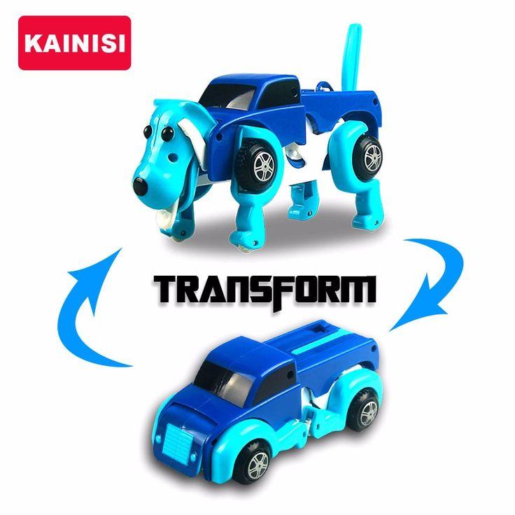 Livraison gratuite 4 couleurs 14 CM cool Automatique transformer Chien De Voiture Vehicule Clockwork Wind up toy pour les enfants enfants garcon fille jouet Cadeau