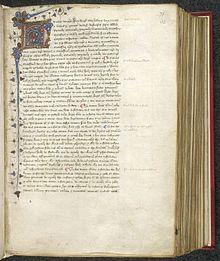 Magna Carta — La version de 1297 de la Magna Carta enluminée dans un ouvrage du xve siècle.