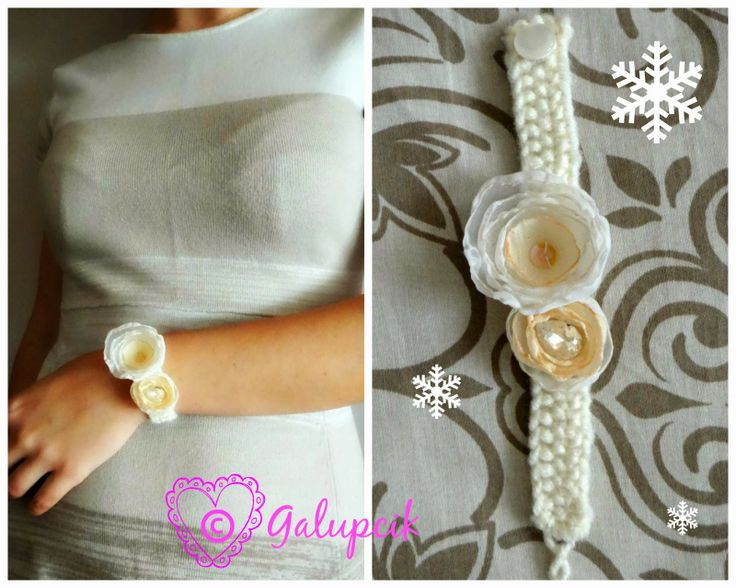 Handmade bracelet from the Snow Princess collection.