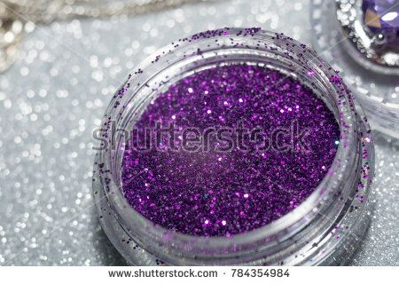 Decorative glitter silver and purple as abstract background