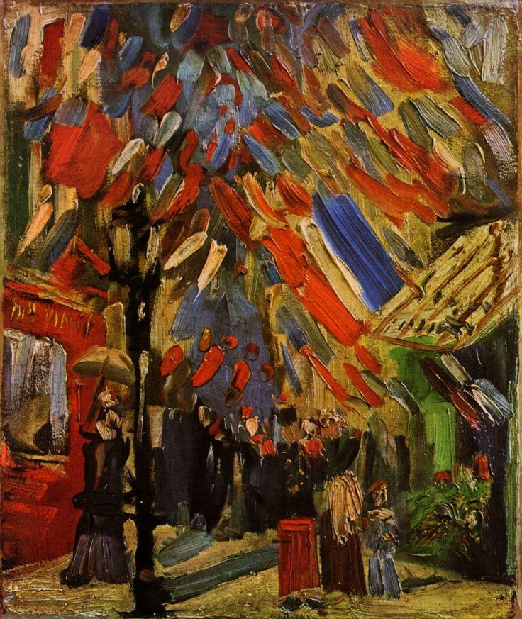 Картина Ван Гога Париж. Празднование Четырнадцатого июля. День взятия Бастилии 1886