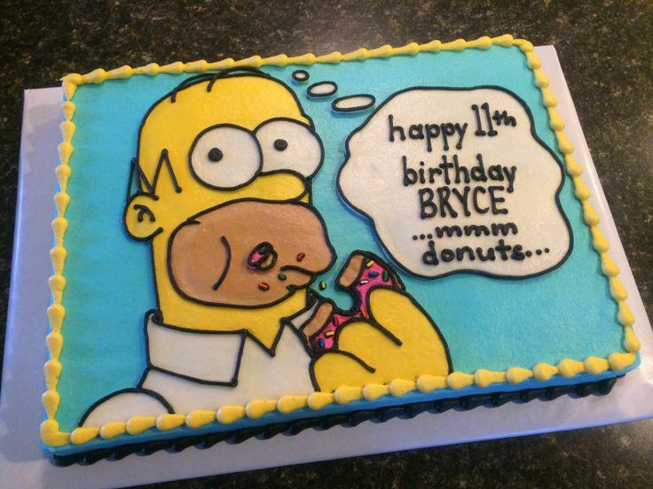 Homer Simpson Cake My Cakes Pinterest Homer Simpson