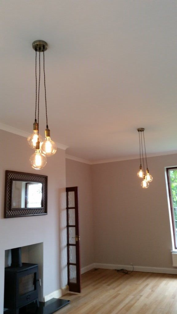 3 Cluster Any Colors Multi Pendant Hanging Light Edison Bulb Modern Industrial Lighting Hardwired Ceiling