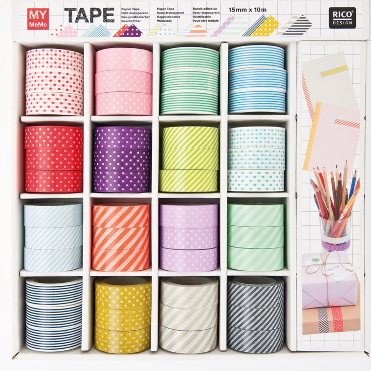 Brightly coloured creative Washi tape. Easy to tear & perfect for adding a bit of style and design to your craft projects as well as grift wrapping.
