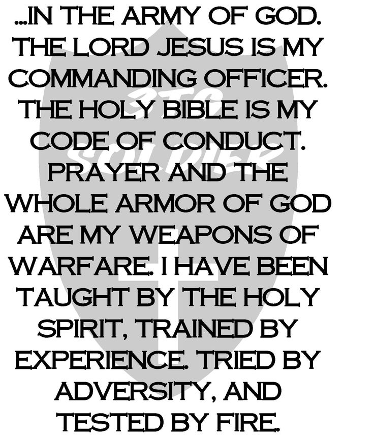 Christian Soldiers | christian_soldier_1 | Prayer Forces