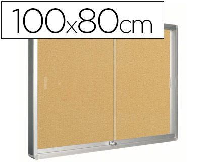 Vitrina de anuncios de corcho de 100 x 80 cm. ¡Al mejor precio!