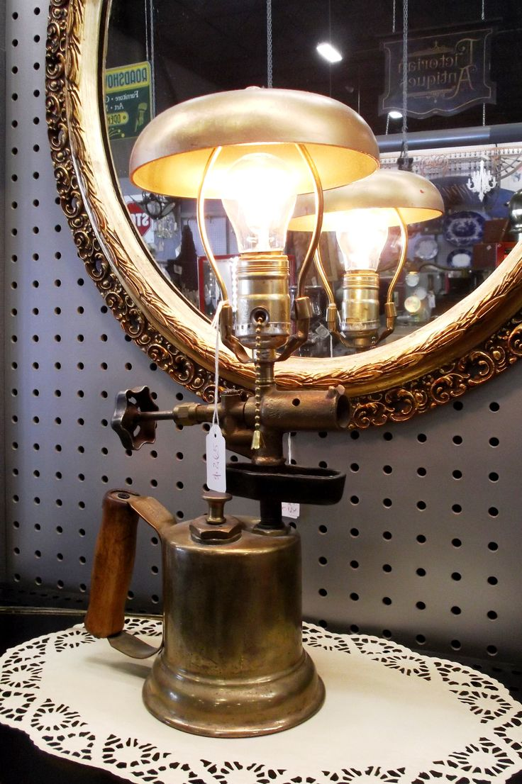 A great brass tool turned lamp is for sale for $265.00 in booth P702.  1400 Squires Beach Road, Pickering, ON L1W 4B9. 905) 427-7902. www.roadshowantiquespickering.com