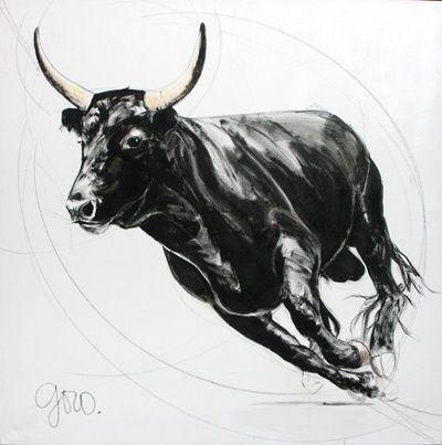 Photos taureau camarguais peinture page 2