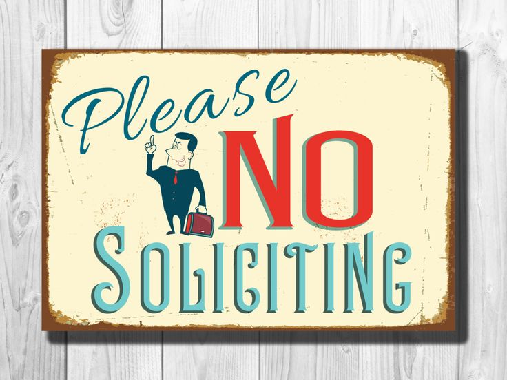 No Soliciting Sign Vintage style Aluminum Composite Metal No Soliciting Sign, Please No Soliciting Sign door or wall sign WORLDWIDE SHIPPING by ClassicMetalSigns on Etsy