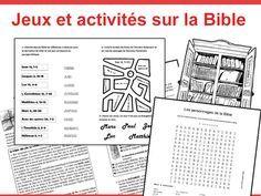 Activités, jeux autour de la Bible