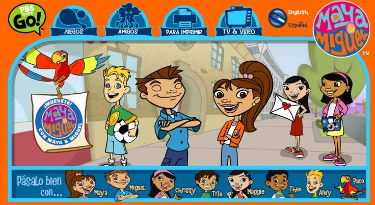 Maya y Miguel (PBS Kids) juegos para la clase de español