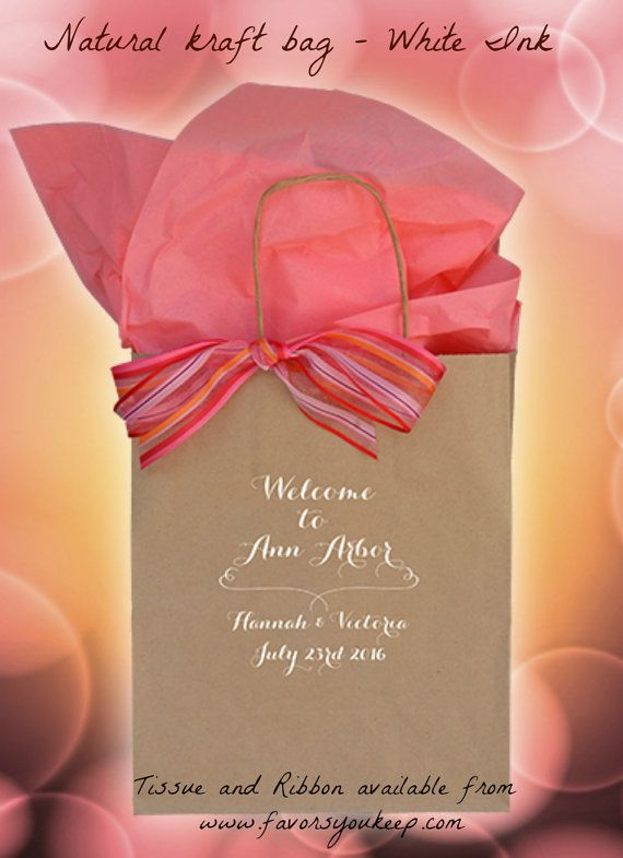 Wedding Welcome Bags Personalized Wedding by WelcomeBagsWeddings~ Name a Town, Any Town!