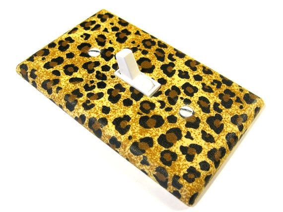 Light Switch Cover Brown Cheetah Bedroom Children by ModernSwitch, $6.00