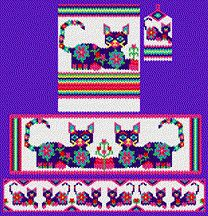 Purrdita the Purple Pussycat Complete Set - Item Number 4203