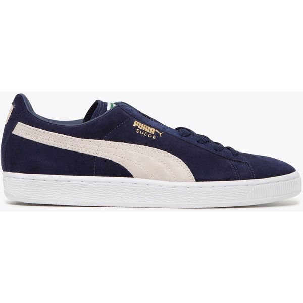 Puma Suede Classic Dark Navy ($83) ❤ liked on Polyvore