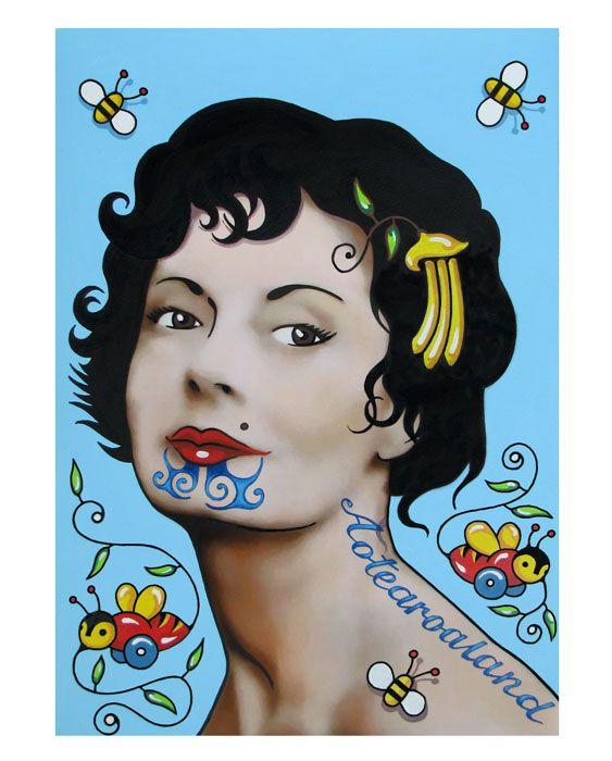 Miss Kiwiana - Lester Hall Art