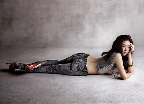 Shin SeKyung Buckaroo jeans