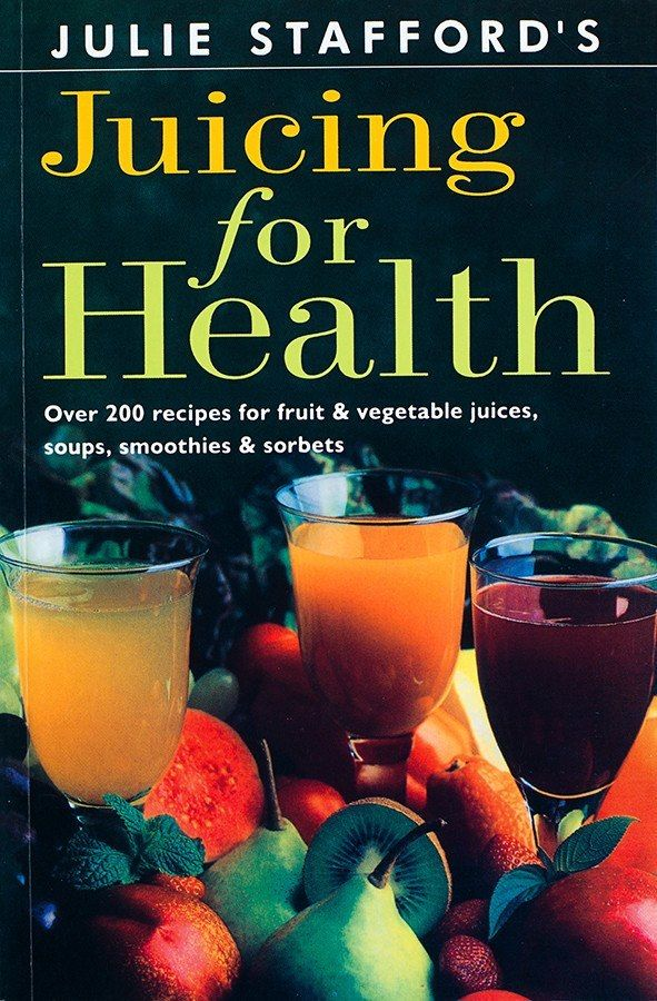 By Julie Stafford Get more of the needed vitamins, minerals, enzymes and nutrients in your day! Recipes for fresh, healthy juices, and each contain a nutritional list to provide a balanced boost with