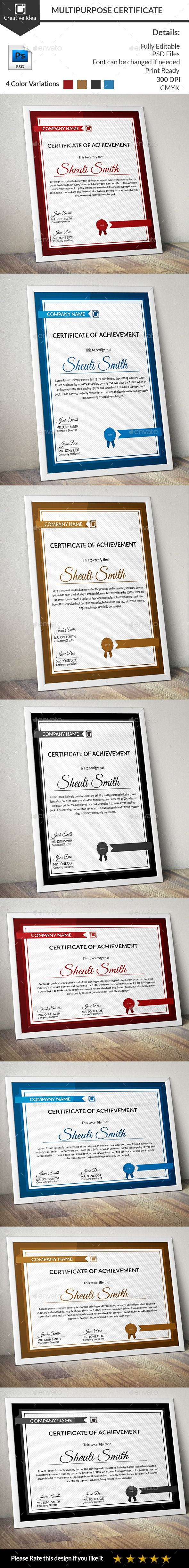 Best 25 certificate design ideas on pinterest certificate multipurpose certificate certificate designcertificate yadclub Choice Image