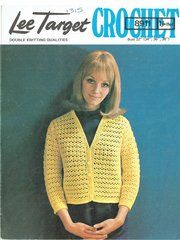 Lee Target 8911 ladies cardigan vintage crochet pattern