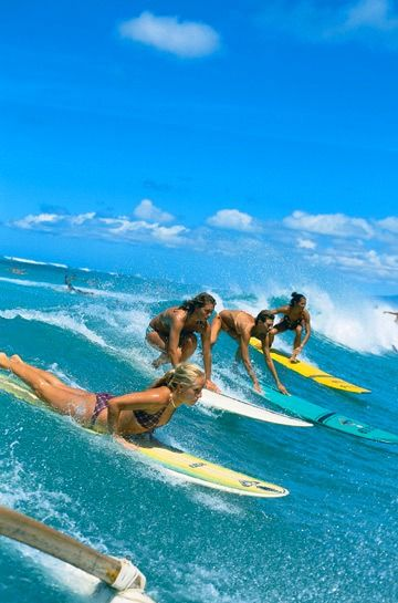 Ladies surf it better! @SwellWomen Surf and Yoga Retreats
