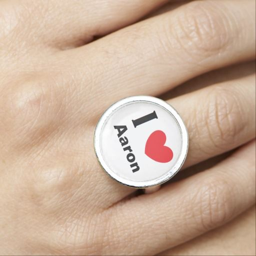 "Say what you love with this ""I Heart..."" Personalized Ring!"
