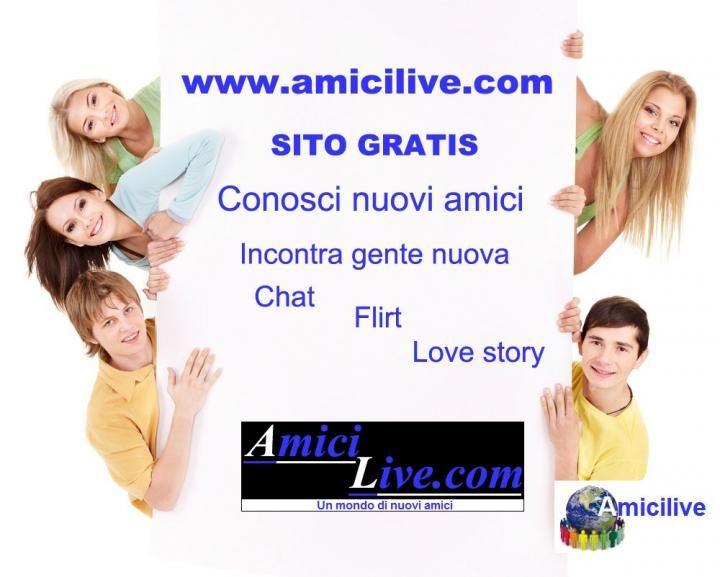 Scopri il nuovo social senza restrizioni sulle amicizie: www.amicilive.com e conosci tante persone nuove