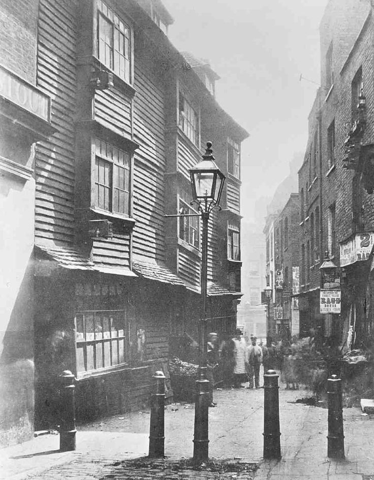 Peter's Lane, looking south towards Cowcross Street, Clerkenwell. c. 1867. Demolished