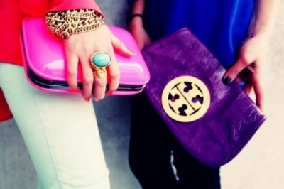 toryStyle, Clutches, Oval Rings, Tory Burch, Accessories, Bold Colors, Bags, Bright Colours, Bright Colors