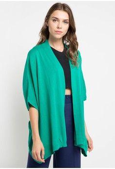 Wanita > Pakaian > Outerwear > Cardigan > Ladies Poncho > Noir Sur Blanc