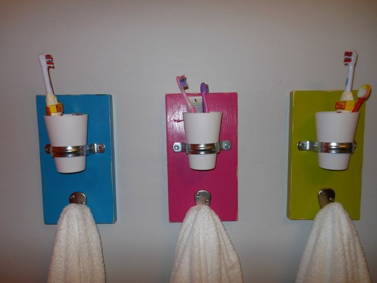 Great idea for multiple kids sharing the bathroom.  Keep the counter clutter under control.