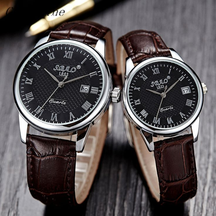 >> Click to Buy << High Quality D-868 Free shipping & Wholesale! Fashion Business Mens Women/girl/lady Couple Leather Quartz Date Wrist Watch #Affiliate
