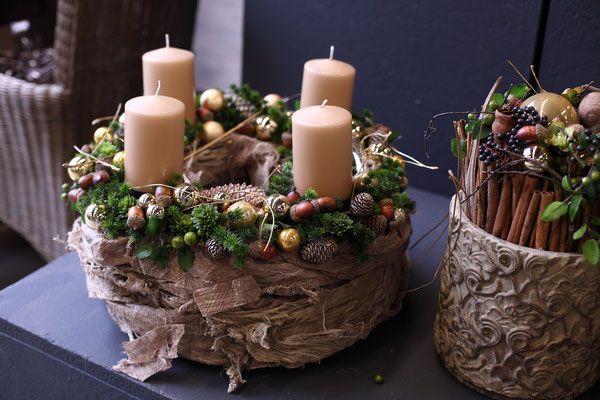 Weihnachtsgestecke 2015 - Fachgroßhandel für Floristikbedarf, Deko & Wohnaccessoires