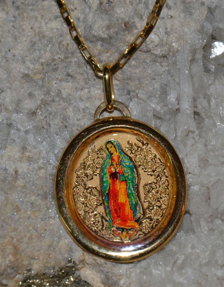 Medalla De La Virgen Guadalupe Dijes De Oro Pendant