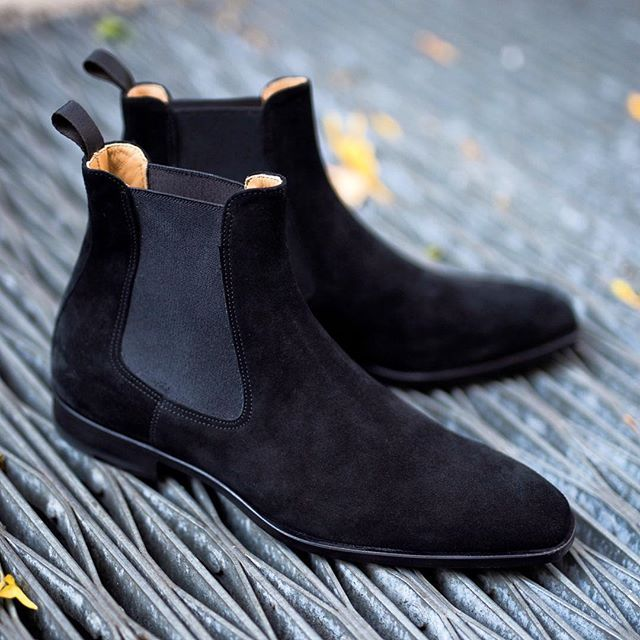 All ◾️ everything. Bet you didn't know you even wanted a black suede boot until you saw this Dean chelsea boot in nero? Like usual, our suedes come in limited quantities, so run, do not walk, to paulevansny.com or 35 Christopher Street, NYC. We can custom order any color suede for you as well, in any style.
