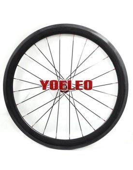 Bike Wheelset - 700C Carbon Wheels Tubular 50MM with Novatec Hubs for 8/9/10 Speed