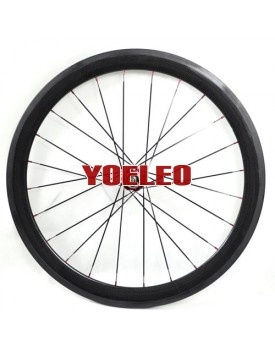 Bike Wheelset - 700C Carbon Wheels Tubular 50MM with Novatec Hubs for 8/9/10 Speed