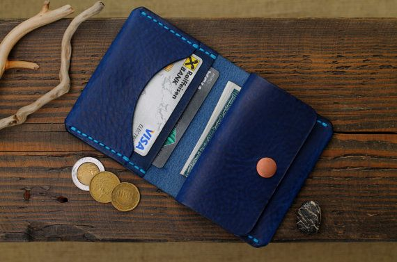 Leather Card Wallet, Card Holder, Leather Wallet, Mens Wallets, Men's Leather…