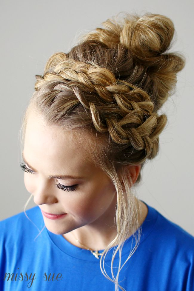Groovy 1000 Ideas About Braided Top Knots On Pinterest Top Knot Cool Short Hairstyles Gunalazisus