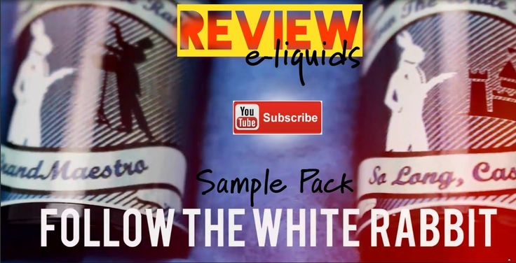 Follow The White Rabbit | Sample Pack| Review Παρουσίαση υγρών αναπλήρωσης